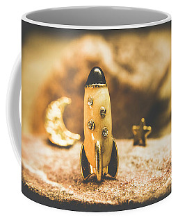 Moon Rocket At Space Station On The Dark Side Coffee Mug