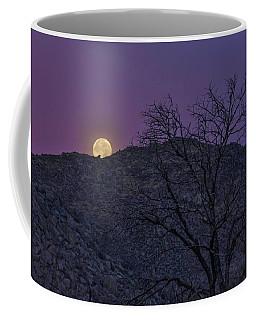 Moon Set At Sunrise Coffee Mug