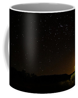 Moon Set Over Palm Valley Coffee Mug