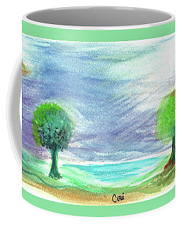 Moon Sun Trees Coffee Mug