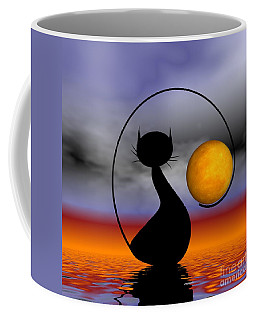 Mooncat's Waiting  Coffee Mug