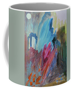 Coffee Mug featuring the painting Moonchaser by Robin Maria Pedrero