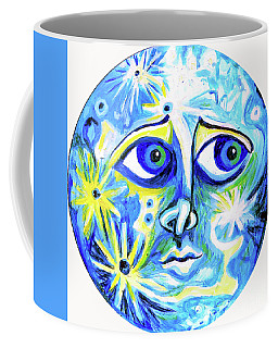 Moonface With Craters Coffee Mug