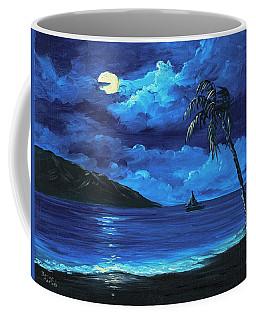 Coffee Mug featuring the painting Moonligh Sail by Darice Machel McGuire