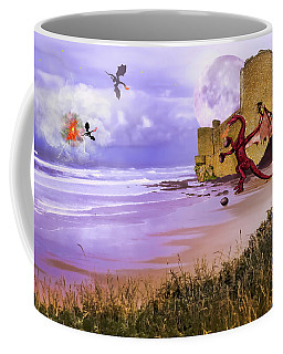 Coffee Mug featuring the photograph Moonlight Dragon Attack by Diane Schuster