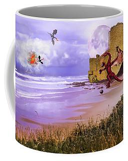 Moonlight Dragon Attack Coffee Mug by Diane Schuster