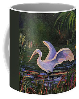 Moonlight Egret Coffee Mug