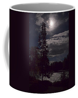 Coffee Mug featuring the photograph Moonlight On The River by Mary Lee Dereske
