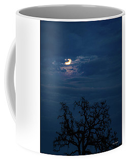 Moonlight Through A Blue Evening Sky Coffee Mug