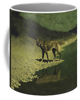 Coffee Mug featuring the painting Moonlight, Wolf by Frederic Remington