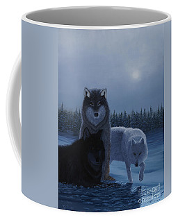 Moonlight Wolves Coffee Mug