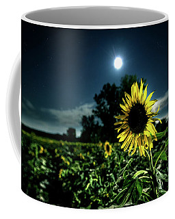 Coffee Mug featuring the photograph Moonlighting Sunflower by Everet Regal
