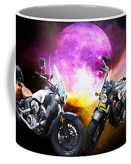Moonlit Indian Motorcycle Coffee Mug