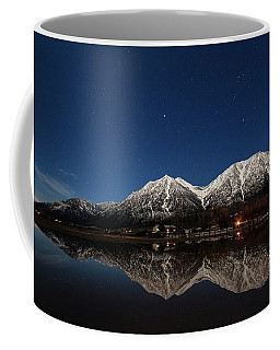 Moonlit Mountain Reflections In The Valley Coffee Mug