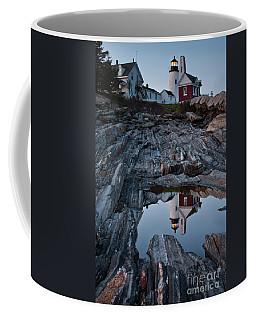Moonlit Reflection Of Pemaquid Light, New Harbor, Me #8118-21 Coffee Mug