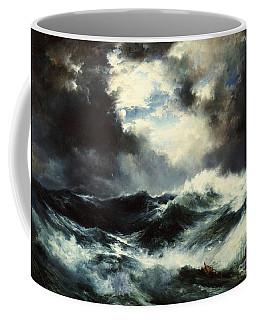 Moonlit Shipwreck At Sea Coffee Mug