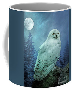 Moonlit Snowy Owl Coffee Mug