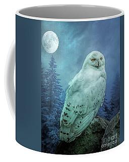 Moonlit Snowy Owl Coffee Mug