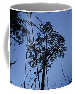 Moonlit Umbrel Sillhouetted  Coffee Mug