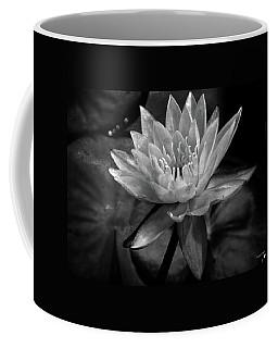 Moonlit Water Lily Bw Coffee Mug