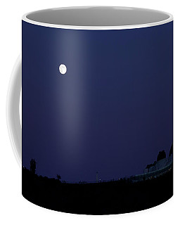 Moonrise At Blue Hour Over Griffith Observatory In Los Angeles Coffee Mug