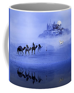 Moonrise At The Magical Oasis Coffee Mug