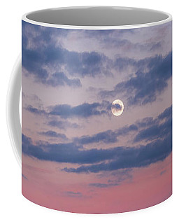 Moonrise In Pink Sky Coffee Mug