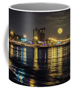 Moonrise Over Biloxi Coffee Mug