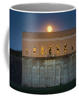 Moonrise Over Franklin Falls Dam Coffee Mug