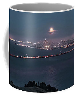 Moonrise Over The Golden Gate Coffee Mug