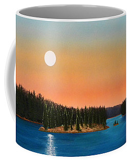 Moonrise Over The Lake Coffee Mug