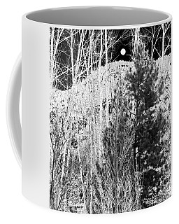 Coffee Mug featuring the digital art Moonrise Over The Mountain by Will Borden