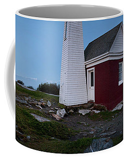 Moonrise Panorama, Pemaquid Point Light #8123-8137 Coffee Mug