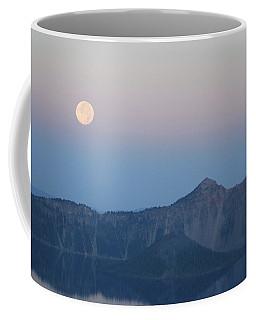 Moonset At Crater Lake Coffee Mug