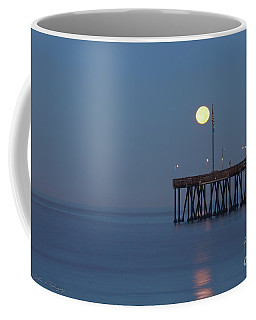 Moonset At The Ventura Pier Coffee Mug