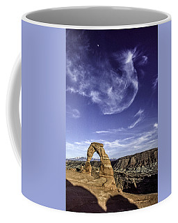 Moonset Delicate Arch Coffee Mug