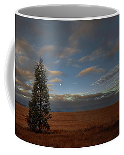 Moonset  In A Large Morning Sky Coffee Mug