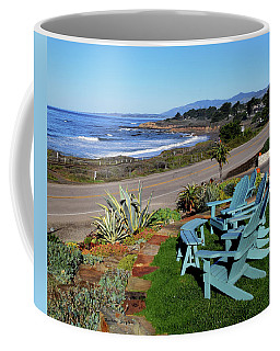 Coffee Mug featuring the photograph Moonstone Beach Seat With A View by Barbara Snyder