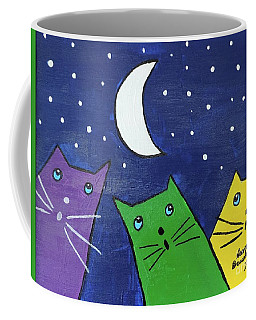 Coffee Mug featuring the painting Moonstruck by Sean Brushingham