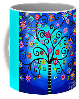 Coffee Mug featuring the painting Moore's Tree Of Life by Pristine Cartera Turkus