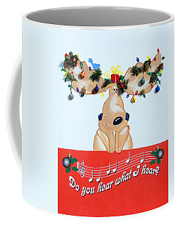 Moose Christmas Greeting Coffee Mug