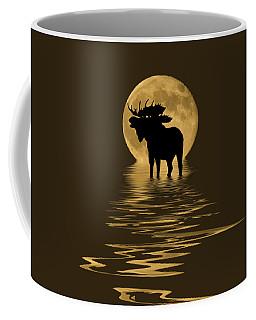 Moose In The Moonlight Coffee Mug