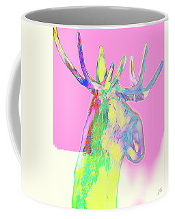 Coffee Mug featuring the mixed media Moosemerized by Jessica Eli