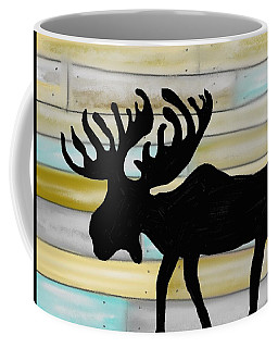 Moose Coffee Mug by Paula Brown