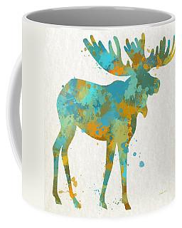 Moose Watercolor Art Coffee Mug