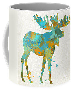 Moose Watercolor Art Coffee Mug