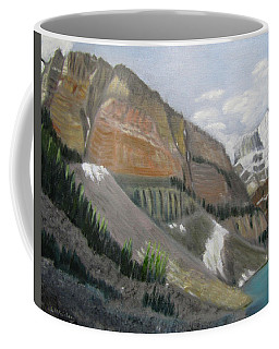 Coffee Mug featuring the painting Valley Of The Ten Peaks by Linda Feinberg