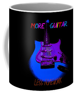 More Guitar Less Homework Coffee Mug