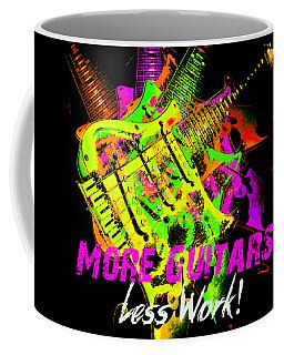 Coffee Mug featuring the photograph More Guitars  by Guitar Wacky