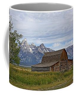 Mormon Row Barn And Grand Tetons Coffee Mug